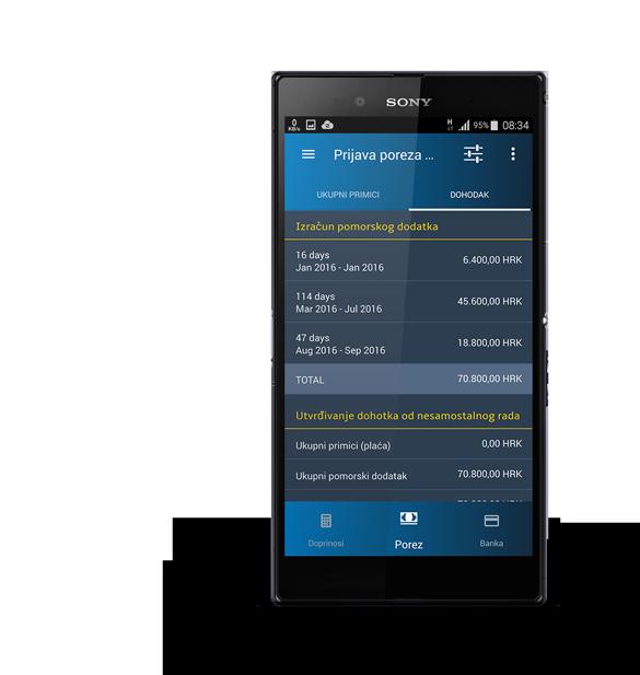 Izračun doprinosa putem eMariner aplikacije